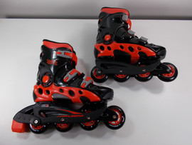 **SLIGHTLY USED** Linear Black and Red Durango Inline Skate Size 6