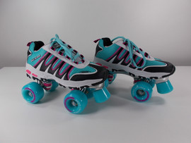**SLIGHTLY USED** Sonic Cruiser 2.0 Teal and Black Outdoor/Indoor Skate - Size Ladies 6