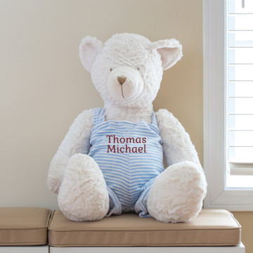 Personalized teddy bear with child's name