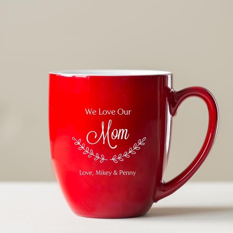 Personalized Mom Christmas Coffee Mug