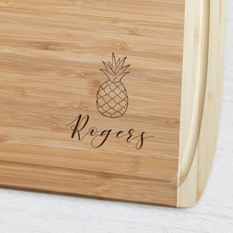 Custom Engraved Pineapple Cutting Board