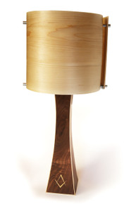 Walnut and Maple Table Lamp