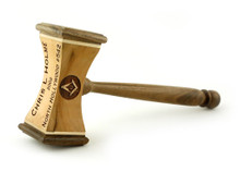 Common Gavel with laser engraving