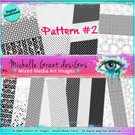 Pattern #2 - Art Image Pack by Michelle Grant desiGns 8x B&W  Pattern Art Images in A4 - 8x Digital Jpeg files @300 dpi