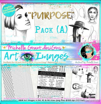 """""""PURPOSE"""" Art Image Pack designed by Michelle Grant  FULL COLLECTION PACK (10 files) PACK A  & Pack B (6 files)"""