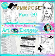 """PURPOSE"" Art Image Pack designed by Michelle Grant  FULL COLLECTION PACK (10 files) PACK A  & Pack B (6 files)"