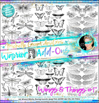 """""""Wings & Things #1"""" Warrior Add-Ons Pack  Pack designed by Michelle Grant  FULL COLLECTION PACK (3files)"""