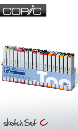 COPIC SKETCH PRO MARKER - 72 PEN - C COLOURS SET