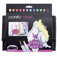 COPIC CLASSIC MARKER - Set of 12 Bright Colours + Wallet