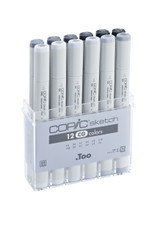 COPIC SKETCH 12 PEN SET - COOL GREY