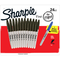 Sharpie Fine Permanent Marker 24ct + 1 Bonus Marker Set