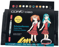COPIC CIAO 12 PEN WALLET SET - SCHOOL UNIFORM