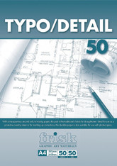 Frisk Typo/Detail Pad - A4 (53gsm / 50 Sheets)