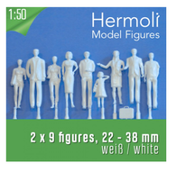 Schulcz - 18 Hermoli Figures, Standing, M = 1:50 (02-50111.18)