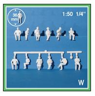 Schulcz - 15 Hermoli Figures, Sitting, M = 1:50 (02-50311.15)