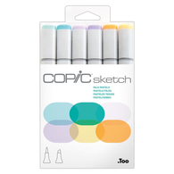 Copic Sketch Marker Set of 6 - Pale Pastels