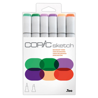 Copic Sketch Marker Set of 6 - Seconday Tones