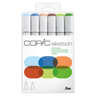 Copic Sketch Marker Set of 6 - Earth Essentials