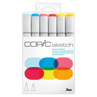 Copic Sketch Marker Set of 6 - Perfect Primaries