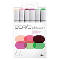 Copic Sketch Marker Set of 6 - Floral Favorites 1