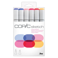 Copic Sketch Marker Set of 6 - Floral Favorites 2