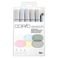 Copic Sketch Marker Set of 6 -Blending Basics