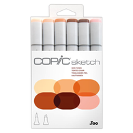 Copic Sketch Marker Set of 6 - Skin Tones