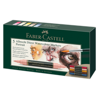 Faber Castell Albrecht Durer Watercolour Markers Wallet of 5 Portrait