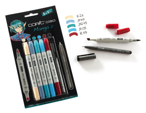 Copic Ciao Markers 5 + 1 - Manga 2 Set