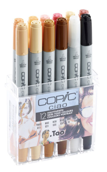 Copic Ciao 12 Pen Set - Skin Tones