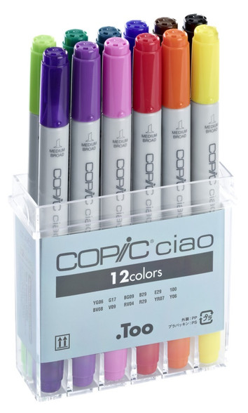 Copic Ciao 12 Pen Set - Standard Tones