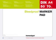 TRANSOTYPE MARKER PAD - SIZE A4