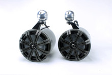 """Kicker 8"""" RGB Black Tower Speakers"""