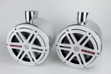 Nautique Boat Tower Speakers JL Audio White M770 Polished Cans