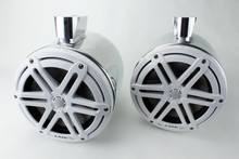 Nautique Boat Tower Speakers White JL Audio M3-770 Polished Cans