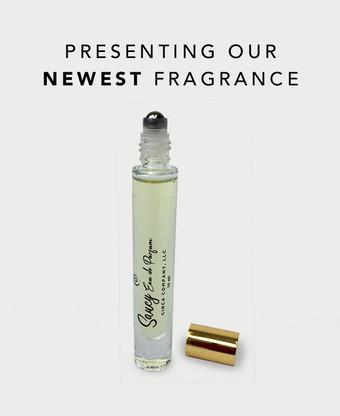 Presenting Our Newest Fragrance - Saucy Eau de Parfum, 10ml bottle