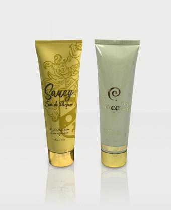 Circa23 and Saucy Eau de Parfum scented lotions