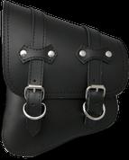 All Softail Models Left Side claSICK Solo Saddle Bag Black Leather