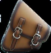 La Rosa Harley-Davidson All Softail Models Left Side Solo Saddle Bag  Swingarm Bag  Antique Tan