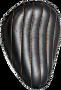 "Harley Chopper Bobber 13"" baSICK Solo Seat Black Tuk N Roll - Orange Thread"