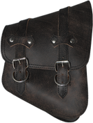 All Softail Models Right Side Solo Saddle Bag Rustic Black Leather