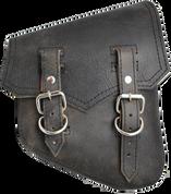 All Softail Models Vintage Right Side Solo Saddle Bag Rustic Black
