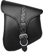 La Rosa Harley-Davidson All Harley-Davidson Softail and Rigid frames Left Side Saddle Bag  Swingarm Bag Black w/ Black Alligator Belt
