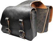 Universal Throw Over Saddle Bag Set Rustic Black