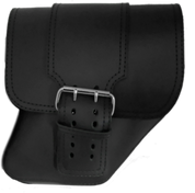 04-UP Harley-Davidson Dyna Wide Glide FXR Right Side Solo Saddle Bag Black with Wide Strap
