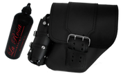 04-UP Harley-Davidson Dyna Wide Glide FXR Right Side Solo Saddle Bag Black with Wide Strap and Fuel Bottle Holder