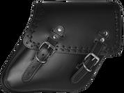 04-UP Harley-Davidson Dyna Wide Glide FXR Right Side Solo Saddle Bag Black Cross Laced