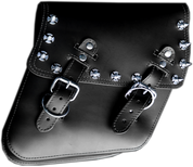 04-UP Harley-Davidson Dyna Wide Glide FXR Right Side Solo Saddle Bag Black Iron Cross Spikes