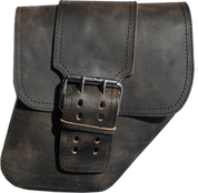 04-UP Harley-Davidson Dyna Wide Glide FXR Right Side Solo Saddle Bag Rustic Black with Single Strap