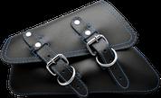 04-UP Harley-Davidson Sportster  Nightster 1200   Forty-Eight 72    Roadster Left Side Saddle Bag Swingarm Bag - Black w/ Blue Thread
